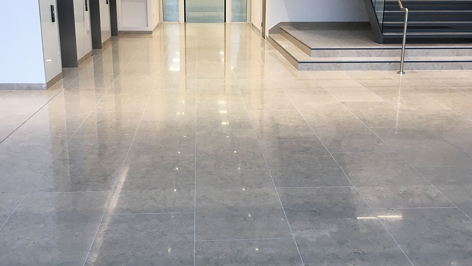 Commercial stone flooring