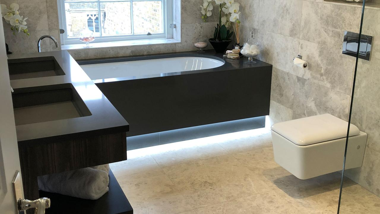 Engineered stone bathoom