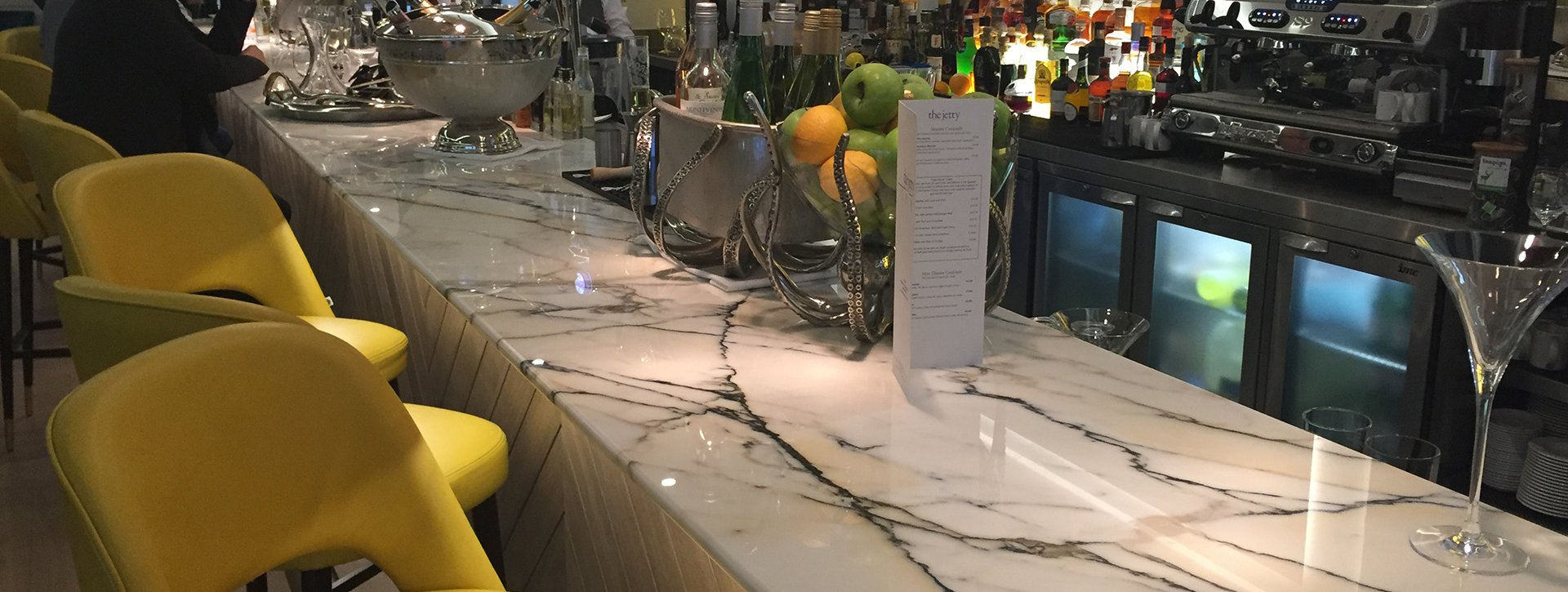 Commercial marble worktops