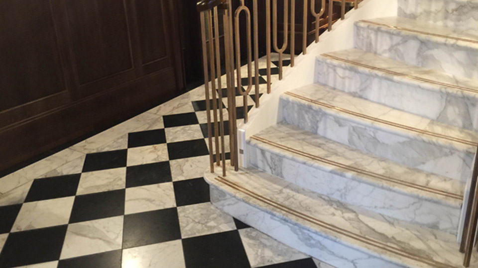 Tailor made marble staircase