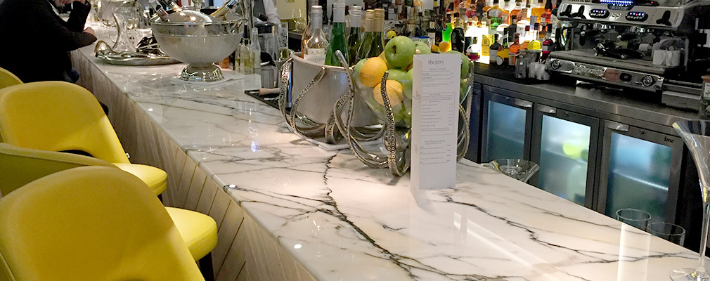 Commercial marble bar worktop